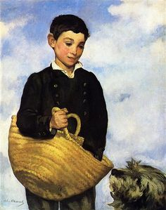 A boy with a dog - Manet Edouard