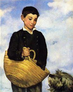 A boy with a dog - Manet Edouard