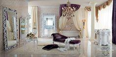 Luxury-bath-with-chaise-lounge-Bella-Vita-collection-Modenese-Gastone.jpg - Bagno in stile con decorazioni in foglia argento e dormeuse