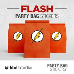 The Flash Party Decoration Printable Labels, Party Printables, Cookie Monster Party, Loot Bags, Label Paper, Party In A Box, Printing Labels, Printed Bags, Party Bags