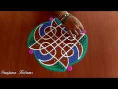 Very Easy And Simple Kambi Kolam. Rangoli Borders, Rangoli Border Designs, Colorful Rangoli Designs, Rangoli Designs Images, Kolam Rangoli, Rangoli With Dots, Simple Rangoli, Nail Art Hacks, Butterfly