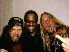Dimebag Darrell (Pantera) Rocky George (Suicidal Tendencies) Jeff Hanneman (Slayer)