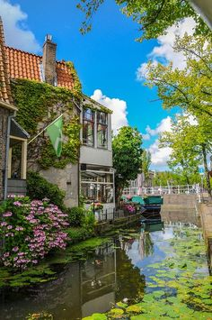 Canals of Delft - The Netherlands #delft. Visit shop.holland.com for #dutchdesign based on canals and canal houses