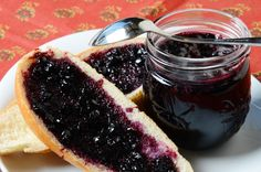 Saskatoon Jam, a recipe from ATCO Blue Flame Kitchen. Jam Recipes, Canning Recipes, Great Recipes, Favorite Recipes, Recipe Ideas, Saskatoon Recipes, Jam And Jelly, Liqueur, Food To Make
