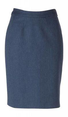 5916f7323 woolmaster Womens WoolSilkLinen Pencil Skirt 10 Blue -- For more  information, visit image link
