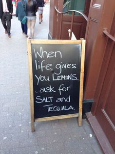 Here's 13 Hilarious Chalk Board Bar Signs