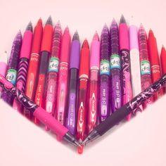 Pilot Pen Heart - Red, Pink, Purple