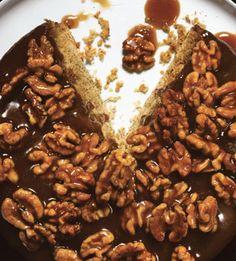 Caramel-Walnut Upside-Down Banana Cake