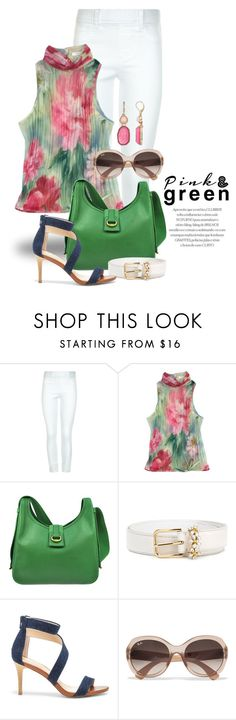 """""""Bright Green 1442"""" by boxthoughts ❤ liked on Polyvore featuring New Look, ESCADA, Hermès, Dolce&Gabbana, Sole Society, Ray-Ban and Dana Buchman"""