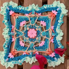 A beautiful cal just started yesterday by . it calls . the pattern was a little tricky yet it… Celtic Women, Butterfly Effect, Just Start, Potholders, Crochet Granny, Granny Squares, Stitches, Free Pattern, Crochet Patterns