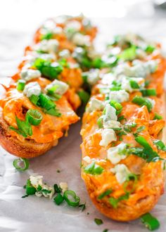Buffalo Chicken French Loaf - a delicious French baguette loaded with buffalo chicken, cheese and baked to perfection. A perfect snack for the Super Bowl.