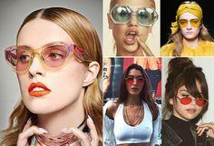d218dc20bb675 Óculos com lente colorida são os acessórios da vez - Veja famosas apostam  na tendência