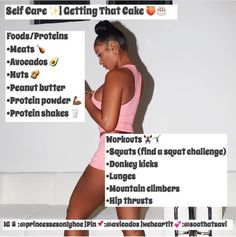 workout routine hoe tips Body Fitness, Fitness Goals, Fitness Tips, Fitness Motivation, Weight Loss Meals, Weight Gain, Slim Thick Workout, Baddie Tips, Hoe Tips