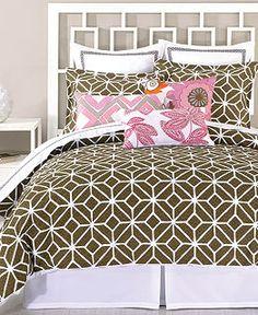 Trina Turk Bedding, Trellis Java Comforter and Duvet Cover Sets - Apartment Bedding - Bed & Bath - Macy's