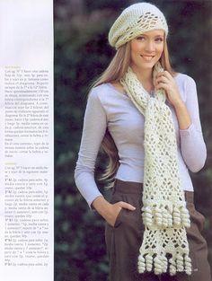 White Snow Scarf free crochet graph pattern