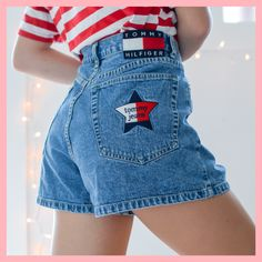 Korean Outfits, Short Outfits, Cute Outfits, Tommy Hilfiger Shorts, Hilfiger Denim, Lined Jeans, Zip Ups, Denim Shorts, Tights