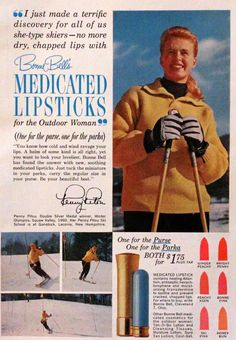 """She-Type""  1964 Bonne Bell Medicated Lipstick Ad - Retro Vintage Beauty Advertising to Frame - Color"