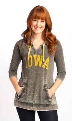 NCAA Iowa Hawkeyes Tunic Pullover Hoodie Women's: Amazon.com: Clothing