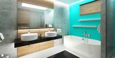 Wnętrze domu - łazienka - Łazienka - Styl Nowoczesny - MAQ Studio | Architektura + Wnętrza