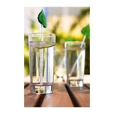 IKEA - GODIS, Glas, Durch die schlichte, gerade, hohe Form eignet sich das Glas bestens für kalte Getränke jeder Art, z. B. kohlensäurehaltige Drinks mit viel Eis.