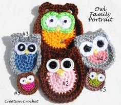 Owl Family Portrait This is a collection of my owl family appliques. There are 5 patterns to choose from. All of the patterns can be created using any weight yarn, embroidery thread or crochet thread to create adorable pins, hair accessories or appliques. I have written each pattern with the yarn and hook size I [...]