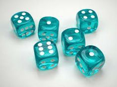 Chessex Translucent Teal w/White Dice