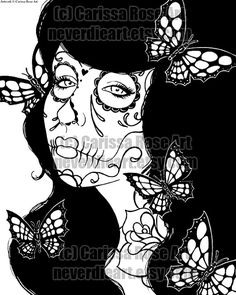 Lovely Print Your Own Coloring Book 73 Sugar Skull Girl