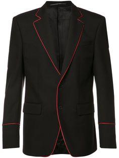 Shop Givenchy trimmed blazer jacket.