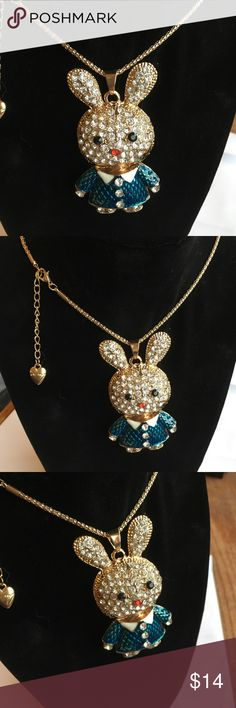 "🔷BETSEY JOHNSON BUSINESS BUNNY NECKLACE🌐 Meet our new best friend! He's got killer fashion game and is always happy to help you accessorize your outfit! * Gold tone necklace chain * Adorable Bunny complimented in business attire with pavé crystal accents. * Lobster claw closure * Gold plating * Length: 28"" + 3"" Ext Betsey Johnson Jewelry Necklaces"