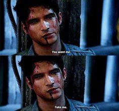You're the true alpha! Teen Wolf Mtv, Teen Wolf Funny, Teen Wolf Boys, Teen Wolf Dylan, Teen Wolf Cast, Dylan O'brien, Teen Wolf Quotes, Teen Wolf Memes, Tyler Posey