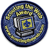 """Scout Internet Patch Award - """"Scouting the Web Award"""" for those who demonstrate their ability to gather information with computers and the Internet.  Patch costs about $3.  Many of the requirements for this award also qualify for a significant part of earning the Cub Scout Academic & Sports Program Computer Belt Loop.   #redvestbling  #cubscoutpatch"""