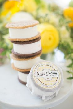 Ice cream sandwiches: http://www.stylemepretty.com/living/2017/03/20/tips-for-throwing-the-perfect-spring-party/ Photography: Abby Jiu - http://www.abbyjiu.com/