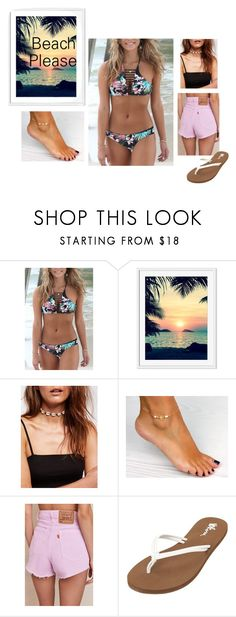 """Beach day♥"" by paulaperez2 on Polyvore featuring moda, Rip Curl, Free People, Urban Renewal y Volcom"