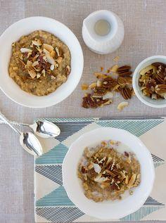 sweet brown rice & quinoa breakfast porridge {gluten-free, dairy-free}   Meaningful Eats