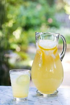 Perfect Lemonade ~ Simple and easy method for perfect lemonade every time! With simple syrup and fresh lemon juice. ~ SimplyRecipes.com