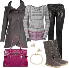 """Splash of Hot Pink"" by debbie-probst on Polyvore"