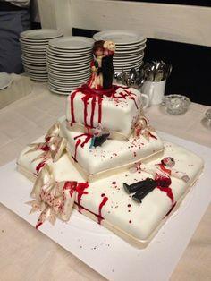 Zombie wedding cake