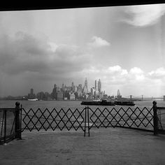 NYC. Low Manhattan Skyline in Sept. 1953 // Vivian Maier
