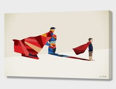 """""""Walking Shadow, Hero"""", Numbered Edition Canvas Print by Jason Ratliff - From $89.00 - Curioos"""