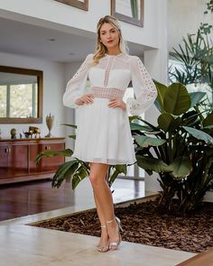 98, Cold Shoulder Dress, Dresses With Sleeves, Long Sleeve, Fashion, Religious Wedding, Civil Wedding, Turtleneck, Dress Long