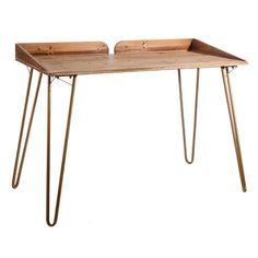 Mesa de escritorio marrón industrial | LOLA home