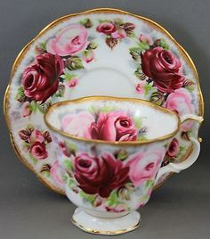 Royal Albert Teacup Saucer  Summer Bounty Series Ruby E75   eBay
