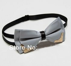 Men's Butterfly Bow Tie Butterflies Cravat Gray