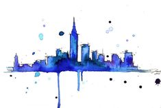 city scape water color...oh i can't wait to decorate my entire house with lovely art like this