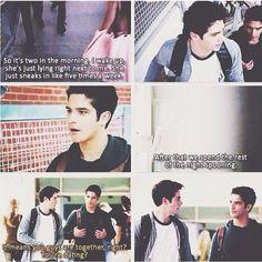 Dylan O'Brien (Stiles Stilinski)  Tyler Posey (Scott McCall) - Teen Wolf