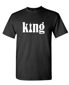 KING chess piece masculine classic - Mens Cotton T-Shirt, XL, Black >>> Want to know more, click on the image.