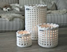 Crochet jar covers                                                                                                                                                      Mais