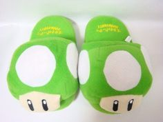 Green Mushroom Plush Slipper Kids Size « Shoe Adds for your Closet