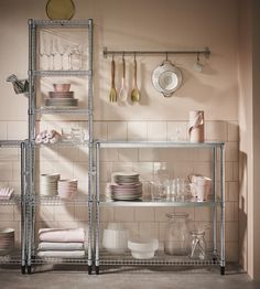 Store more and avoid things from falling between the racks with OMAR accessories - little pieces for greater kitchen harmony. #IKEA #OMAR #accessories