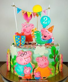 Peppa Pig cookie cake